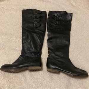 Steve Madden tall black boots with buckles